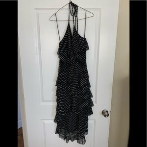 Alice + Olivia Black White High Low Cocktail Dress
